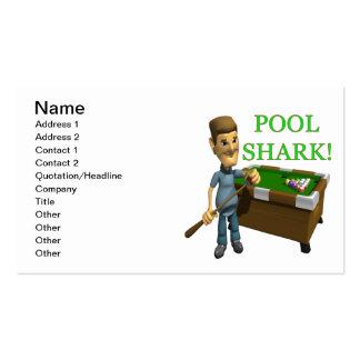 Tubarão da piscina cartão de visita