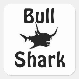 Tubarão de Bull Adesivo Quadrado