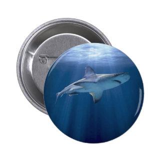 Tubarão de cruzamento bóton redondo 5.08cm