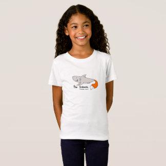 Tubarão de raposa cómico para o kidz (tubarão de camiseta
