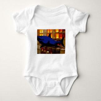 Tubarão do mel body para bebê