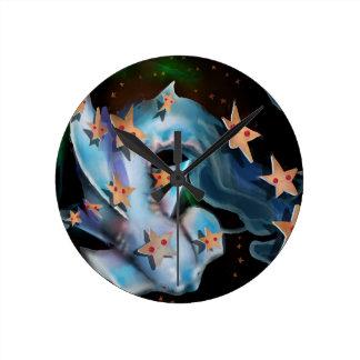 Tubarão-Hammerhead Relógio Redondo