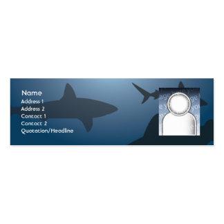 Tubarão - magro cartão de visita skinny