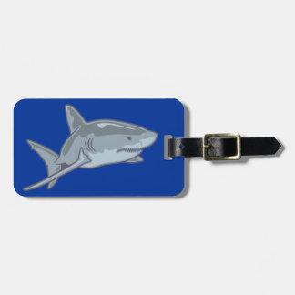 Tubarão shark etiqueta para mala