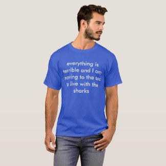 tubarões camiseta