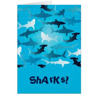 tubarões! cartão comemorativo