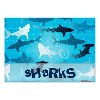 tubarões cartão de visita grande