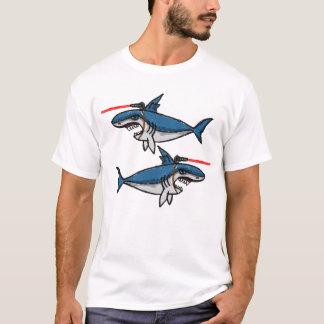 Tubarões com raios laser de Friggin Camiseta