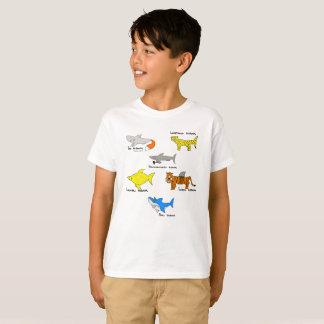 Tubarões cómicos para o kidz camiseta