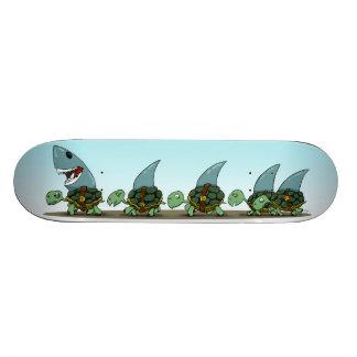 Tubarões da terra shape de skate 20,6cm