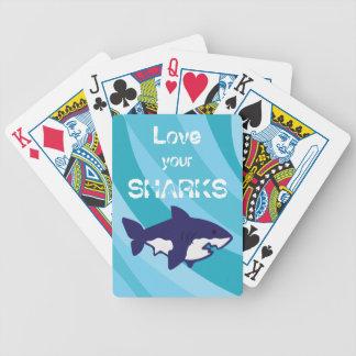 Tubarões de cartão baralho de truco