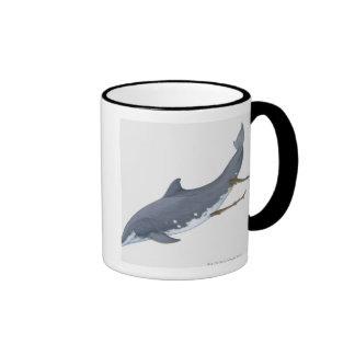 Tubarões de Cookiecutter Caneca Com Contorno
