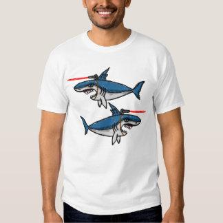 Tubarões do raio laser camisetas