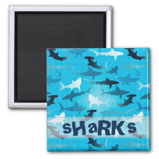 tubarões ímã quadrado