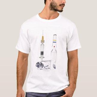 Tubos de ensaio que contêm a medicina para camiseta