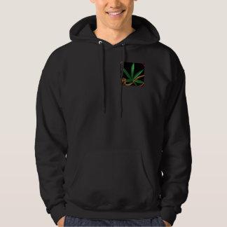 Tubulação do cannabis/marijuana por valxart.com moleton com capuz