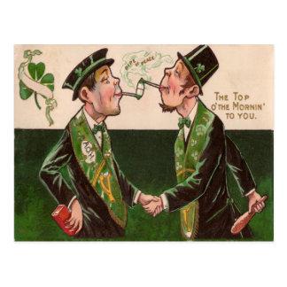 Tubulações do vintage do cartão do Dia de São