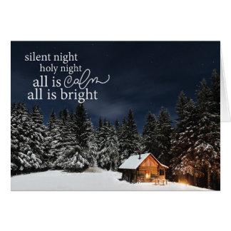 Tudo é calma que tudo é cartão de Natal brilhante