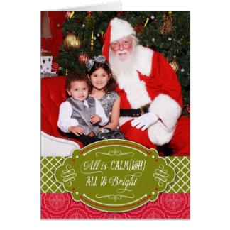 Tudo é Calmish, todo é cartão de Natal brilhante