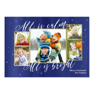 Tudo é cartões de foto de Natal brilhantes calmos,