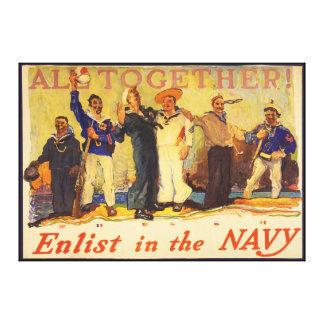 Tudo junto! Recrute na guerra mundial 1 1917 do ma Impressão Em Tela