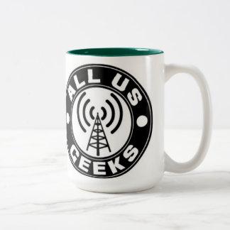 Tudo nós copo de café dos geeks caneca de café em dois tons