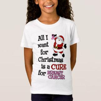 Tudo que eu quero para o cancro da mama do Natal… Camiseta