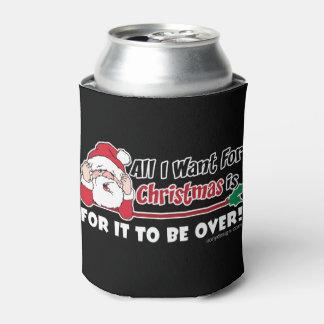 Tudo que eu quero para o design engraçado do Natal Porta-lata