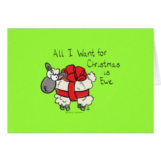 Tudo que eu quero para o Natal é cartão da ovelha