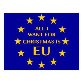 Tudo que eu quero para o Natal é UE. Cartão do