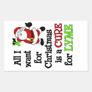 Tudo que eu quero para o Natal… Lyme Adesivo Retangular