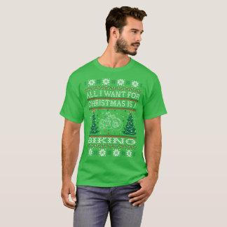 Tudo que eu quero para o Natal que Biking a camisa