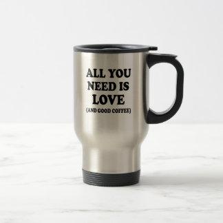 Tudo que você precisa é amor e boa caneca de café