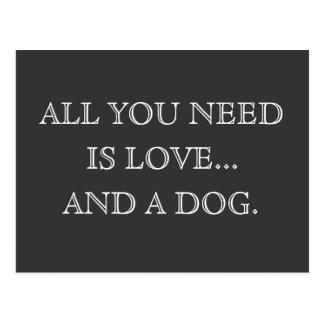 Tudo que você precisa é amor… e um cão - cartão