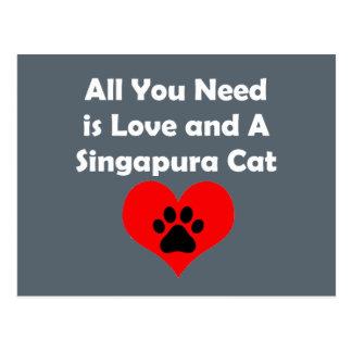 Tudo que você precisa é amor e um gato de cartão postal