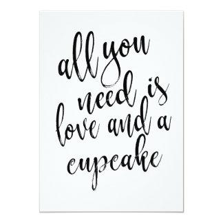 Tudo que você precisa é amor e um sinal do barato convite 12.7 x 17.78cm