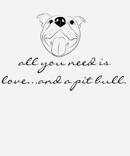 Tudo que você precisa é amor e uma camisa do pitbu t-shirt