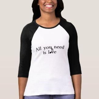 Tudo que você precisa é amor - música camiseta