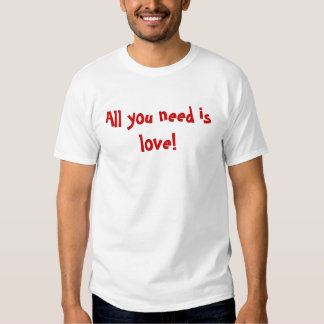 Tudo que você precisa é amor! t-shirt