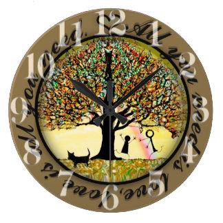 Tudo que você precisa é árvore de amor de vida relógios de paredes