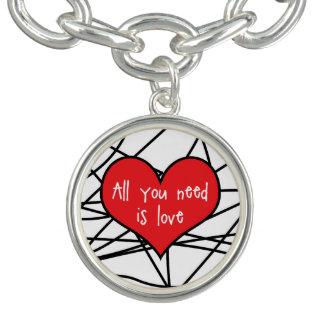 Tudo que você precisa é bracelete do amor