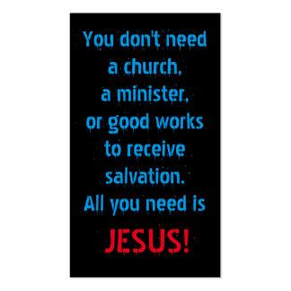 Tudo que você precisa é Jesus Cartão De Visita