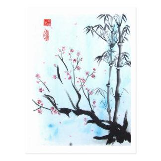 Tudo será cartão APROVADO do bambu e da ameixa