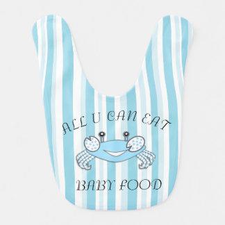 Tudo você pode comer o babador do comida para bebé