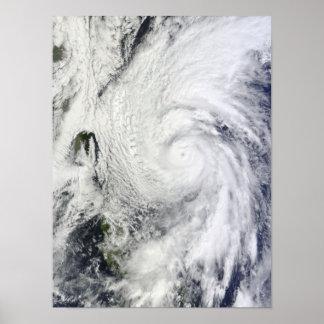 Tufão Chaba no mar filipino Impressão