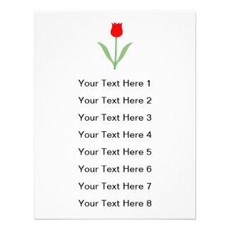 Tulip vermelho brilhante à moda convite personalizados