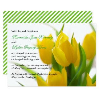 Tulipa amarela - anúncio do casamento