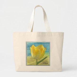 Tulipa amarela sacola tote jumbo