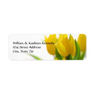 Tulipa amarela - etiqueta de endereço