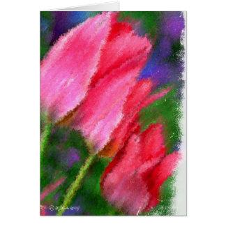 Tulipa-Cartão três Cartão Comemorativo
